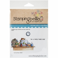 Stamping Bella Cling Rubber Stamp - Uptown Guy Calvin Loves His Computer