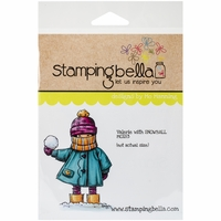 Stamping Bella Cling Rubber Stamp - Valerie W/Snowball