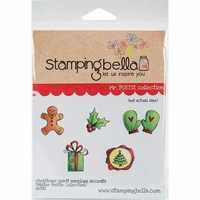 Stamping Bella Cling Stamp - Christmas Spirit Envelope Accents