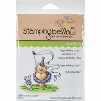 Stamping Bella Cling Stamp - Kitty And Mousie Love To Celebrate