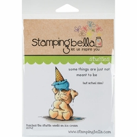 Stamping Bella Cling Stamp - Peaches The Stuffie Wants An Ice Cream