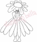 Stamping Bella Rubber Stamp - Daisy Bittybloom