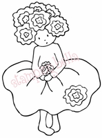 Stamping Bella Rubber Stamp - Rosy Bittybloom