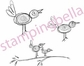 Stamping Bella Unmounted Rubber Stamp - Twirly Birds