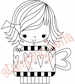 Stamping Bella Unmounted Rubber Stamp - Zoe The Hearty Mug Girl
