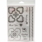 Cindy Echtinaw Designs Spellbinders Matching Clear Stamps - Fancy Hearts
