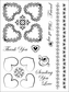 Cindy Echtinaw Designs Matching Clear Stamps - Fancy Hearts