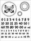 Cindy Echtinaw Designs Spellbinders Matching Clear Stamps - Fancy Numbers