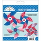Stars & Stripes Paper Craft Kit - Mini Pinwheels