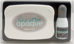 Staz-On Opaque Ink Pad w/Reinker - Mellow Mint - Click to enlarge