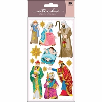 Sticko Christmas Stickers - Nativity