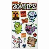 Sticko Halloween Stickers - Animal Zombies