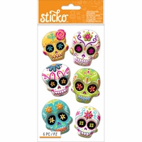 Sticko Halloween Stickers - Sugar Skull