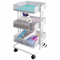 Storage Studios Rolling Craft Cart w/3 Bins
