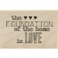 Studio 490 Mounted Red Rubber Stamp - Built On Love