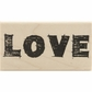 Studio 490 Mounted Red Rubber Stamp - Sketched Love