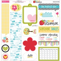 Summer Squeeze Cardstock Stickers - Just Write Journaling