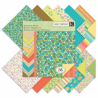 """Summer Travel Double-Sided Designer Paper Pad 12""""x12"""""""