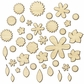 Sundrifter Laser-Cut Wood Veneer Shapes - Flowers & Leaves