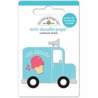 Sunkissed Doodle-Pops Embellished 3-D Stickers - Ice Cream Truck