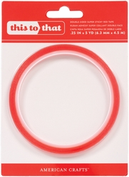 Super Sticky Red Tape - 1/4inch - Click to enlarge