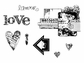 Suzanne Carillo Cling Rubber Stamp Set - Crave Love