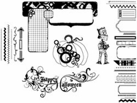 Suzanne Carillo Cling Rubber Stamp Set - Fun Halloween