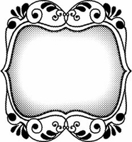 Suzanne Carillo Red Rubber Stamp - Floral Frame