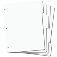 "Tabbed Rubber Stamp Storage Panels 8.5""x11"""