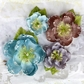 Tatiana Embellished Fabric Flowers - Oceana