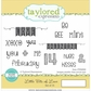 "Taylored Expressions Cling Stamps 4.25""x6.5"" - Little Bits Of Love"