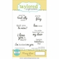 "Taylored Expressions Cling Stamps 5.5""x3"" - Punny Love"