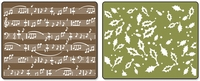 Textured Embossing Folders - Holly Swirls/Sheet Music