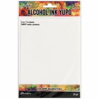 "Tim Holtz® Alcohol Ink White Yupo Paper 5""x7"""