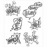 Tim Holtz® Cling Rubber Stamp - Crazy Thoughts