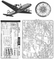 Tim Holtz Cling Rubber Stamp Set - Air Travel