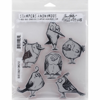 Tim Holtz® Cling Rubber Stamp Set - Bird Crazy