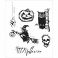 Tim Holtz Cling Rubber Stamp Set - Carved Halloween