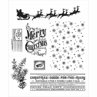 Tim Holtz Cling Rubber Stamp Set - Christmas Nostalgia
