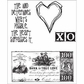 Tim Holtz Cling Rubber Stamp Set - From The Heart