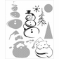 Tim Holtz Cling Rubber Stamp Set - Halftone Christmas