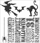 Tim Holtz Cling Rubber Stamp Set - Halloween Silhouettes
