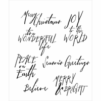 Tim Holtz Cling Rubber Stamp Set - Handwritten Holidays #1