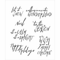 Tim Holtz Cling Rubber Stamp Set - Handwritten Holidays #2