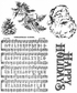 Tim Holtz Cling Rubber Stamp Set - Holiday Wishes