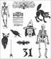 Tim Holtz Cling Rubber Stamp Set - Mini Halloween 2