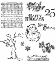 Tim Holtz Cling Rubber Stamp Set - Mini Holidays 3