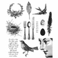 Tim Holtz Cling Rubber Stamp Set - Nature Walk