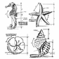 Tim Holtz Cling Rubber Stamp Set - Nautical Blueprint