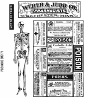 Tim Holtz Cling Rubber Stamp Set - Poisonous